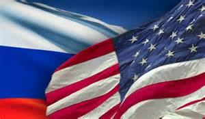 photo Russian and American flags